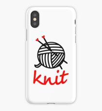 knit with sweet Yarn graphic iPhone Case