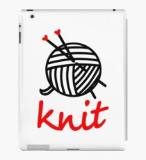 knit with sweet Yarn graphic iPad Case/Skin