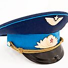 USSR Airforce officer cap with badges by yurix