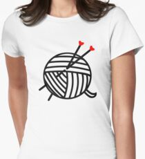 knit yarn - knitters gifts Women's Fitted T-Shirt