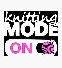 knitting mode on pink Photographic Print
