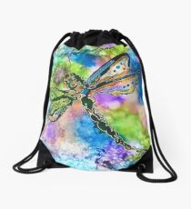 Colorful Dragonfly Drawstring Bag