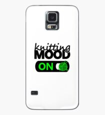 knitting mood on cool graphic / yarn / fun quotes Case/Skin for Samsung Galaxy