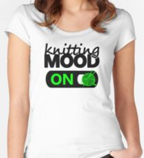 knitting mood on cool graphic / yarn / fun quotes Women's Fitted Scoop T-Shirt