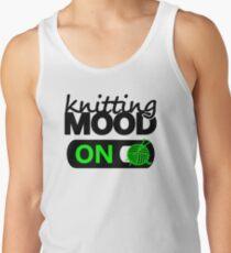 knitting mood on cool graphic / yarn / fun quotes Tank Top