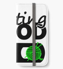 knitting mood on cool graphic / yarn / fun quotes iPhone Wallet/Case/Skin