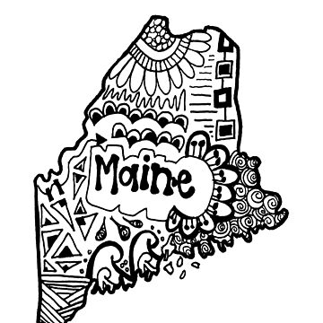 Maine State Zentangle by alexavec