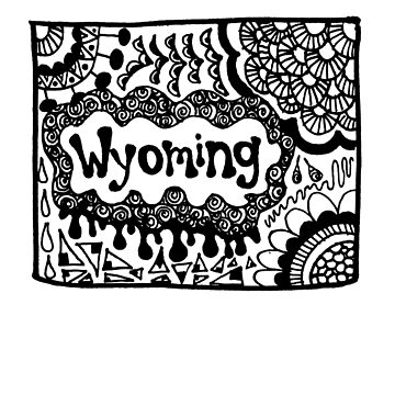 Wyoming State Zentangle by alexavec
