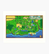 Stardew Valley Map Art Print