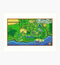 Stardew Valley Karte Kunstdruck