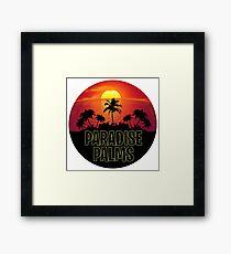 Paradise Palms - Fortnite Gamer Framed Print