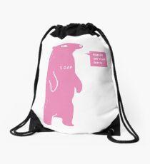 Rub Me On Your Butt (Pink) Drawstring Bag