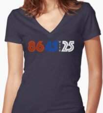 86 45 with 25 (horizontal) Women's Fitted V-Neck T-Shirt