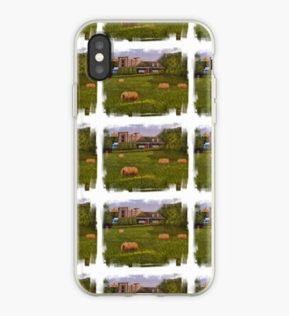A LITTLE BIT OF COUNTRY, Acrylic Painting, with Custom Edging... prints and products iPhone Case