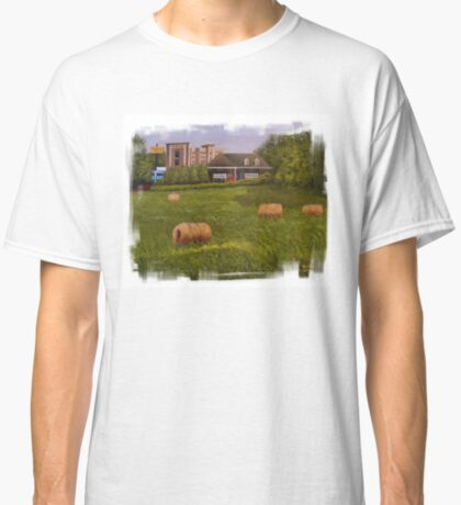 A LITTLE BIT OF COUNTRY, Acrylic Painting, with Custom Edging... prints and products Classic T-Shirt