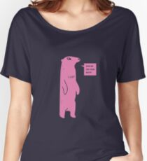 Rub Me On Your Butt (Pink) Women's Relaxed Fit T-Shirt