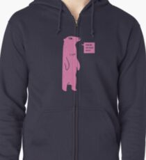 Rub Me On Your Butt (Pink) Zipped Hoodie