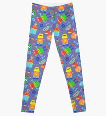 Toy Robot Pattern Leggings