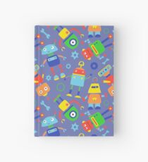 Toy Robot Pattern Hardcover Journal