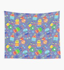 Toy Robot Pattern Wall Tapestry