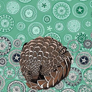 pangolin mandala peppermint by scrummy