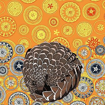 pangolin mandala sunset by scrummy
