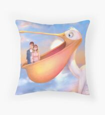 The Pelican Story Throw Pillow