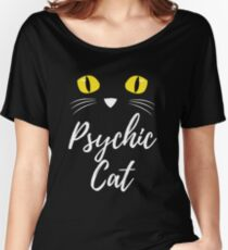 Your Friendly Psychic Tshirt Design psychic cat Women's Relaxed Fit T-Shirt