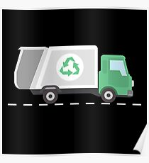 Garbage truck garbage truck recycling gift Poster