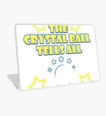 Your Friendly Psychic Tshirt Design crystal ball tells all Laptop Skin