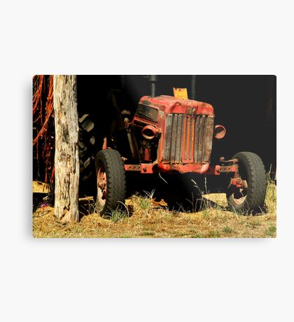 Tractor Shed Metal Print