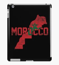 Morocco flag map iPad Case/Skin