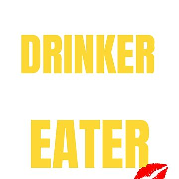 Womens Wine Drinker, Man Eater Women's Funny Wine Drinking T-shirt by UrbanHype