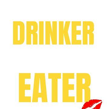 Womens Wine Drinker, Man Eater Women's Funny Wine Drinking T-shirt by UrbanHype