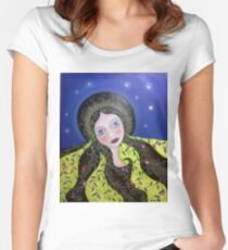 """""""Gaia"""" Women's Fitted Scoop T-Shirt"""