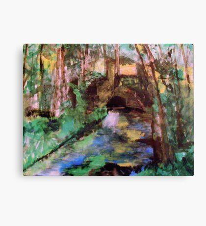 My  Painting    of /   The Little Bridge, Pontoise  /       (  My Paintings  ) Canvas Print