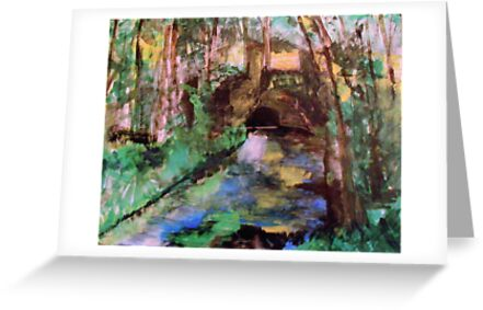 My  Painting    of /   The Little Bridge, Pontoise  /       (  My Paintings  ) by fiat777