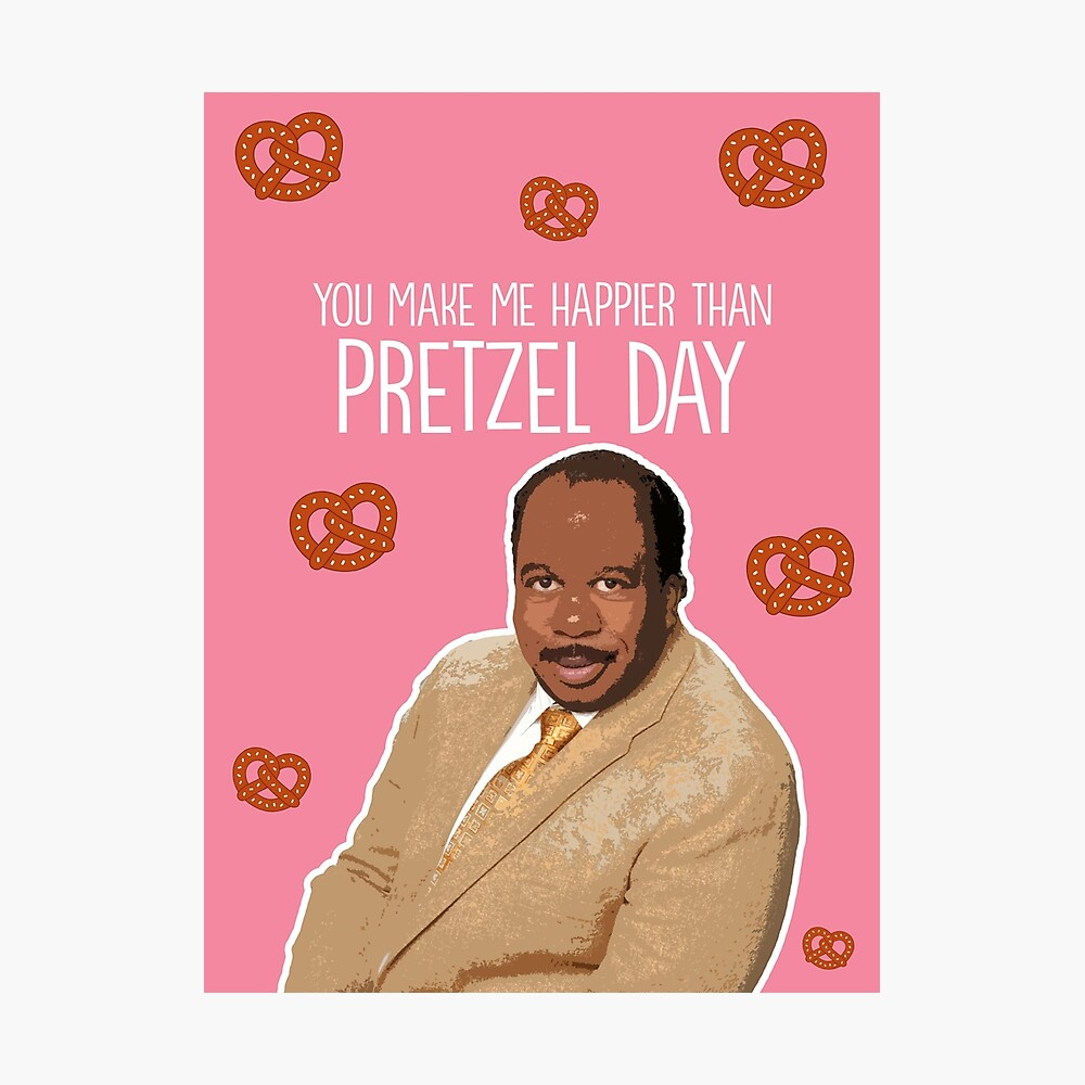 Happier than Pretzel Day Photographic Print