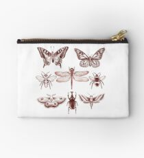 Red Insect Series in pointillism Studio Pouch