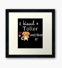 I Kissed A Toller And I Liked It Cute Dog Kiss Gift Idea Framed Print