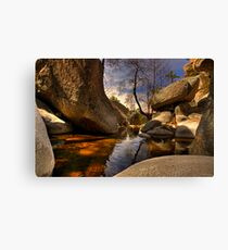 Boulder pond Canvas Print