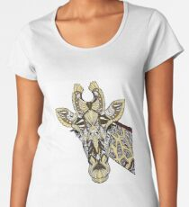 Abstrakte Giraffe Frauen Premium T-Shirts