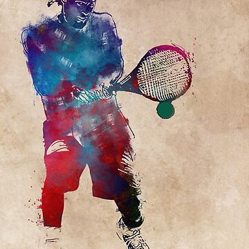 Tennis player 2 sport art #tennis #sport by JBJart