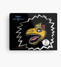 "What's Inside Your Gut, Shmut?: A Tragic First Tale of the World's Last Dumbosaurus!-""Like Grr, Man!"" (premier promo print) Metal Print"