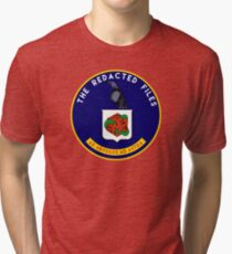 Redacted Files Podcast Logo Tri-blend T-Shirt