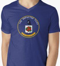 Redacted Files Podcast Logo Men's V-Neck T-Shirt