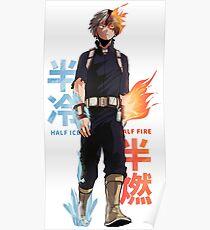 Boku no hero academy - My Hero Academy - Shoto Todoroki Poster