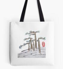 Flat Trees Landscape Tote Bag