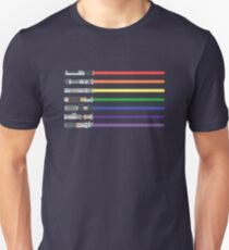 LGBT Light Saber Flag Light Swords T-shirt Slim Fit T-Shirt