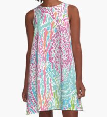 Lilly Inspired Print A-Line Dress